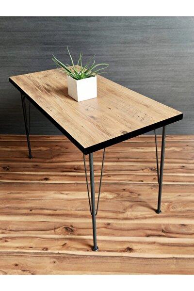 Metal Ayaklı Vienetta Çam 60x120 Cm Dekoratif Mutfak Masası