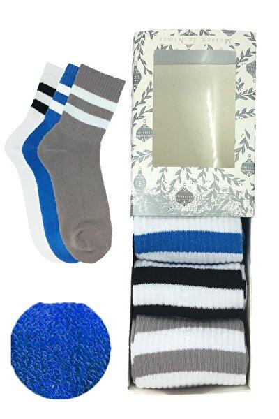 Unisex Kışlık Havlu Çemberli Çorap 3 Renk