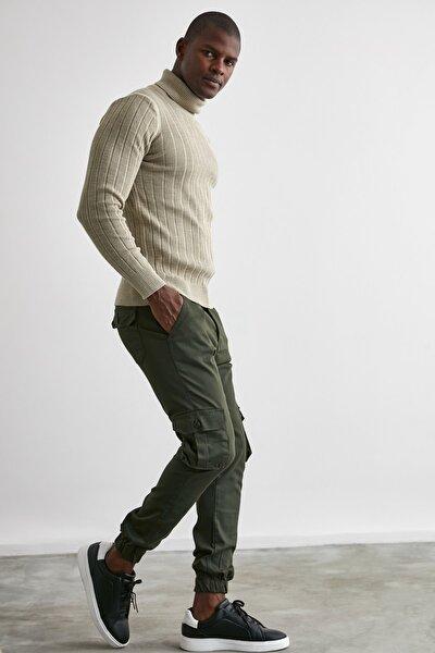 Haki Erkek Kargo Jogger Pantolon TMNAW20PL0633