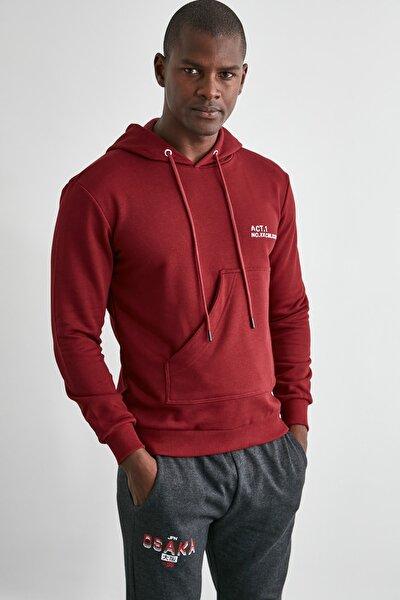 Bordo Erkek  Sweatshirt TMNAW21SW1307