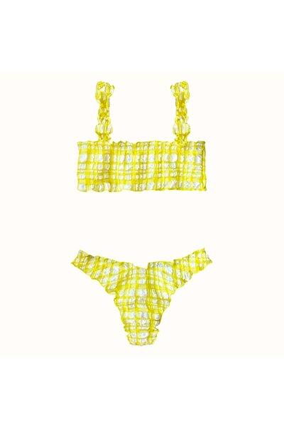 Kadın Sarı Looney Bikini
