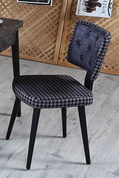 D-class Yemek Mutfak Cafe Bahçe Restorant Sandalyesi -siyah
