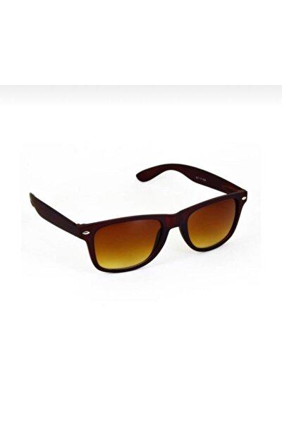 Kahverengi Wayfarer Güneş Gözlüğü Uv400