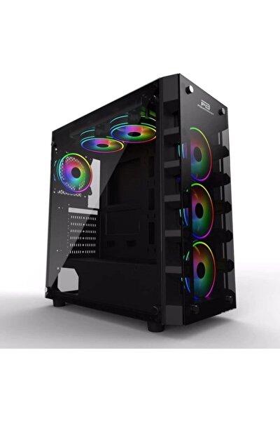 Powerboost X-59 650w 80+ Usb 3.0 Tempered Glass 6 X Raınbow Fıxed Led Fanlı Gamıng Kasa