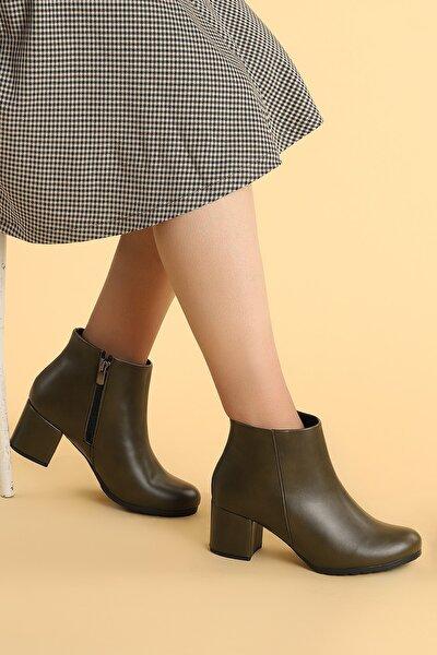 520 Cilt 6 Cm Topuk Termo Taban Bayan Bot Ayakkabı