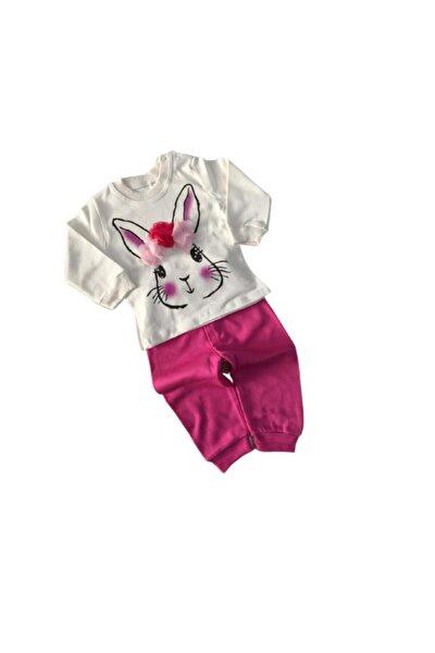 Kız Bebek Fuşya Tavşan Takım