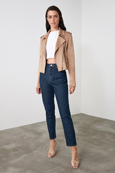 Lacivert Yüksek Bel Mom Jeans TWOAW21JE0739