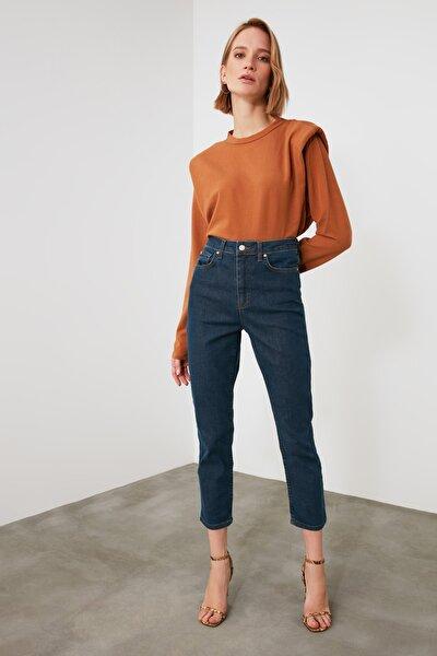 Indigo Yüksek Bel Slim Fit Jeans TWOAW21JE0746