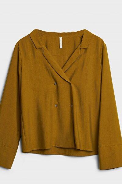 Kadın Altın Kruvaze Gömlek 0KKGM6054A