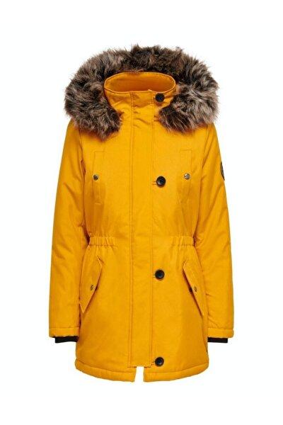 Kadın Hardal Parka Iris Fur Winter 15213755-golden