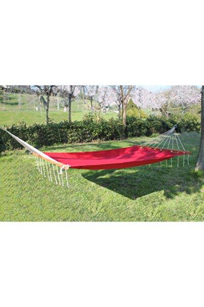 Bahçe Hamağı - Çift Kişilik Salıncak Hamak - Renkli Bez Hamak - Kırmızı