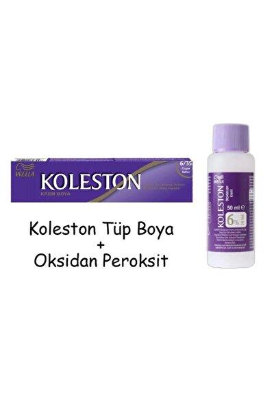 Tüp Boya 50 ml - 6.35 Elegant Kahve + 20 Vol Oksidan Peroksit