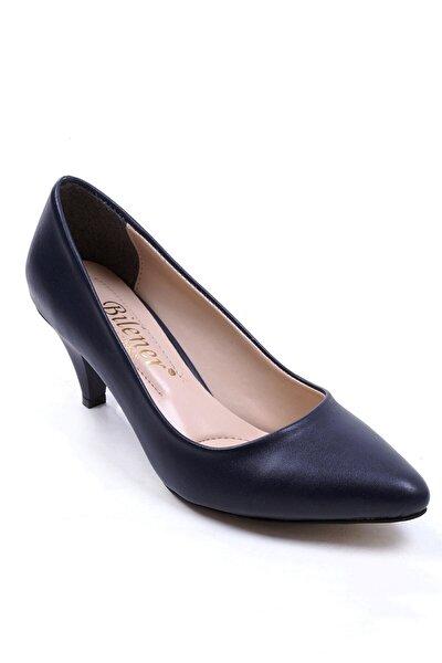 Kadın Lacivert Topuklu Stiletto Ayakkabı