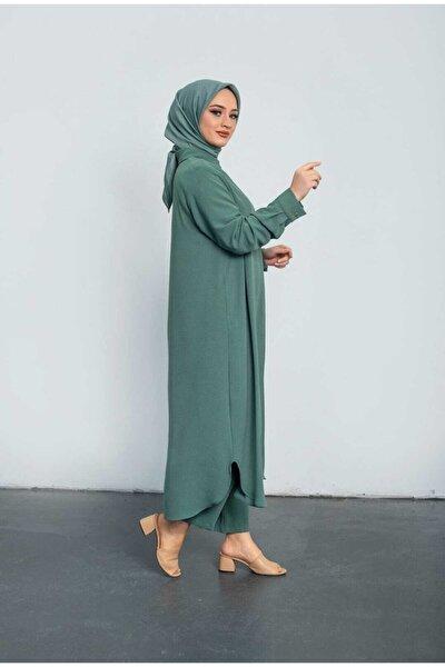 Kadın Melike Tatar Ayrobin Mint Takım