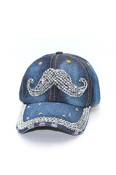 Taş Işlemeli Kadın Kot Şapka - Capbykr004