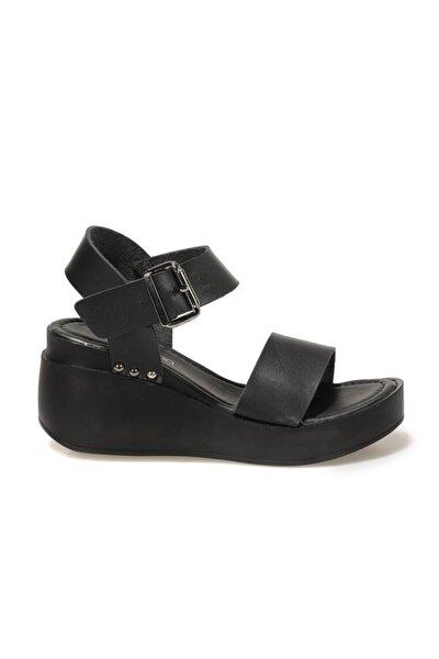 20S-528C1FX Siyah Kadın Dolgu Topuklu Sandalet 101029649