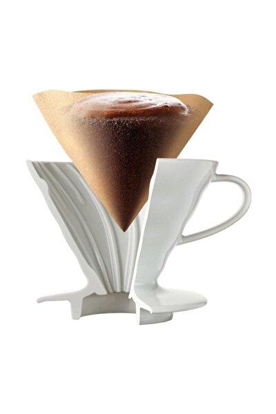 V60 02 Seramik Kahve Demleme Ekipmanı (beyaz) Ceramic Coffee Dripper V60 02 (white)