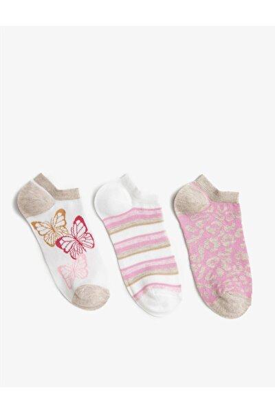 Kadin Desenli Çorap Seti Pamuklu