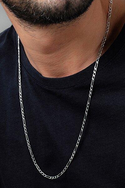 Figaro 925 Ayar Gümüş Erkek Zincir Kolye Vek-3025
