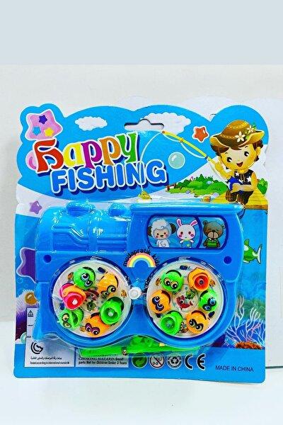 Mıknatıslı Kurmalı Balık Tutma Oyunu 2 Kişilik Mavi