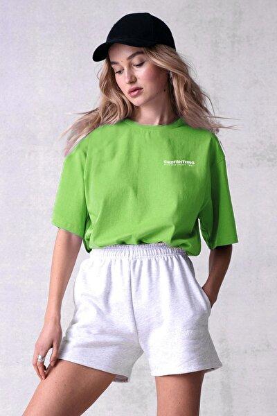 Mad Girls Yeşil Baskılı Tişört Mg1197