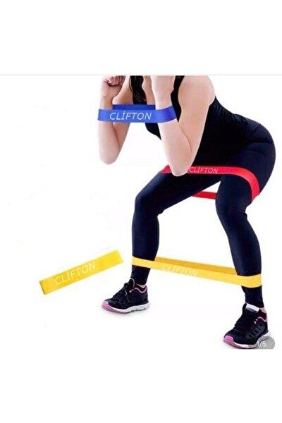 Aerobik Band Pilates Plates Yoga Fitness Squat Çalışma Lastiği Sarı