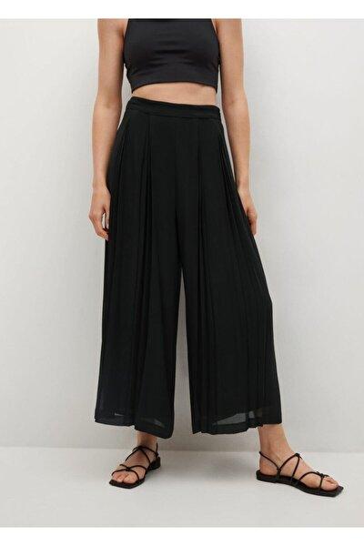 Kadın Siyah Pilili Pantolon Etek