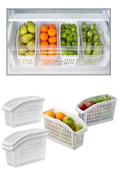 5 Adet Buzdolabı Sepeti Dolap Içi Düzenleyici Sepet Organizer M76-4030-5ad