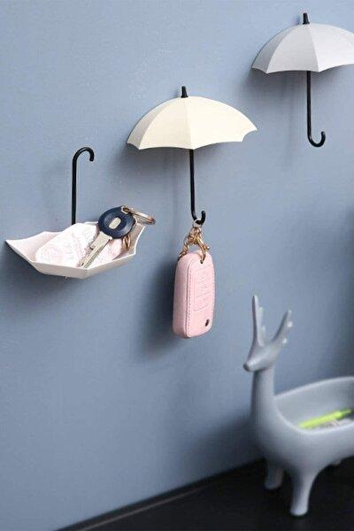 Şemsiye Askılık 4'lü Set Takı Anahtar Ev Dekorasyon Askısı Dekoratif Aksesuarlar