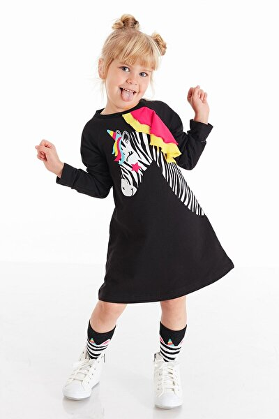 Unicorn Zebra Kız Elbise