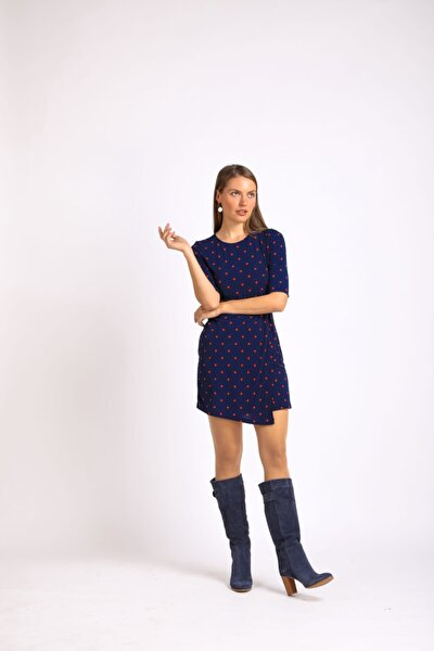 Kadın Lacivert Topuklu Hakiki Deri Çizme