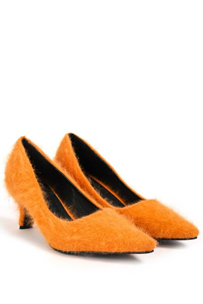 Kadın Turuncu Kısa Topuklu Ayakkabı  TW6200031010