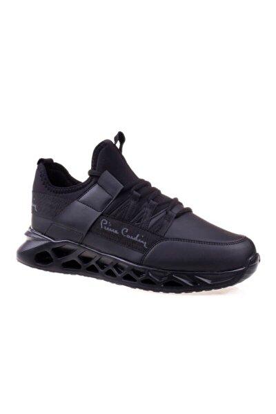 Hafif Yastık Taban Erkek Siyah Spor Ayakkabı