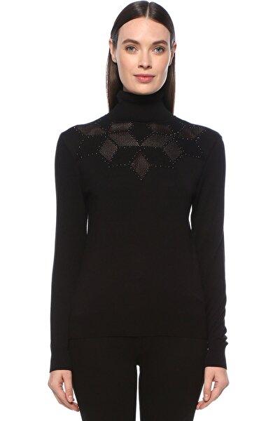 Kadın Siyah Kazak 1077229