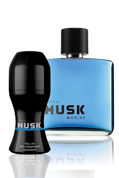 Musk Marine Erkek 75ml EDT +  Roll-On Deodorantlı Parfüm Seti