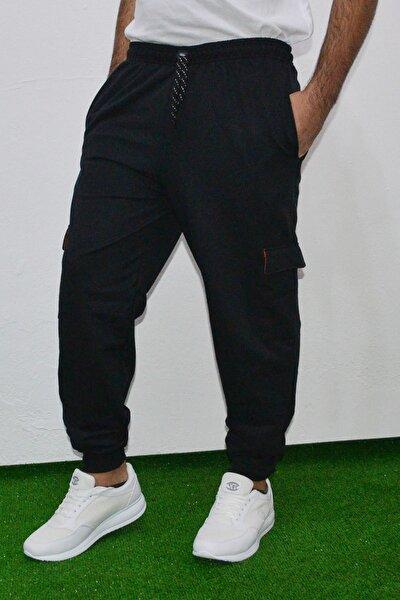 Erkek Siyah Kargo Cep Pantolon