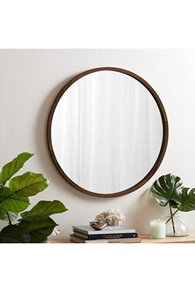 Doğal Ağaç Masif 50cm Ceviz Çerçeveli Antre Koridor Duvar Salon Banyo Ofis Çocuk Yatak Odası Ayna