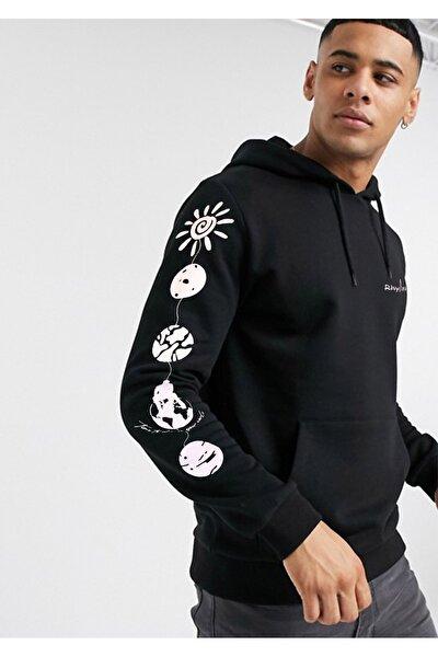 Erkek Özgün Tasarımlı Kapüşonlu Ve Kanguru Cepli Sweatshirt Hoodie