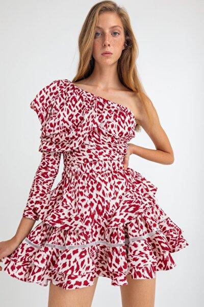 Kadın Kırmızı Beyaz Bluz