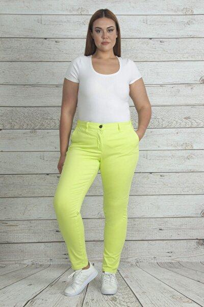 Kadın Yeşil Cep Detaylı Likralı Pantolon 65N19962