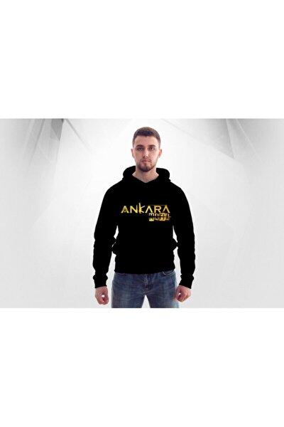 Unisex Siyah Ankara Mafıa Kapüşonlu Sweatshirt Hoodie