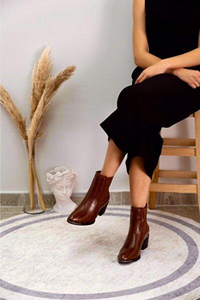 Kadın Kahverengi Topuklu Bot