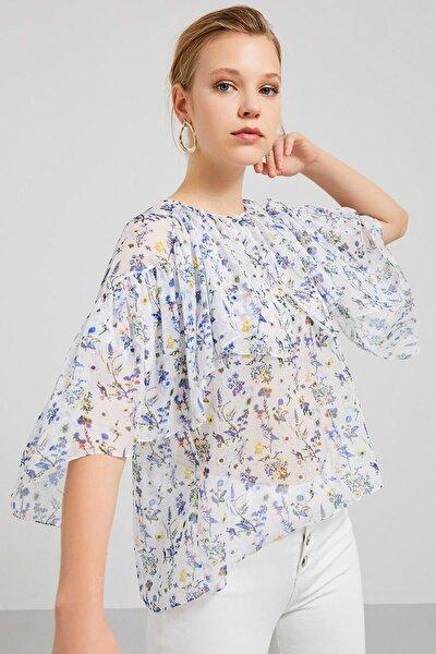 Kadın Çok Renkli Strıpe Bluz 2322 93042322|800
