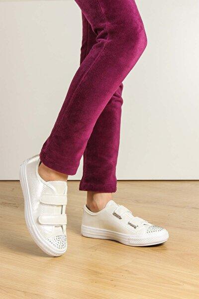 Kız Çocuk Beyaz Casual Ayakkabı 887fa104