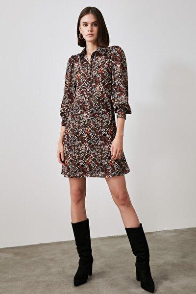 Çok Renkli Desenli Elbise TWOAW21EL2136