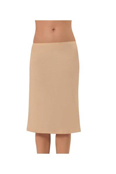 Kadın Ten Uzun Dizaltı Etek Altı Jüpon 2901