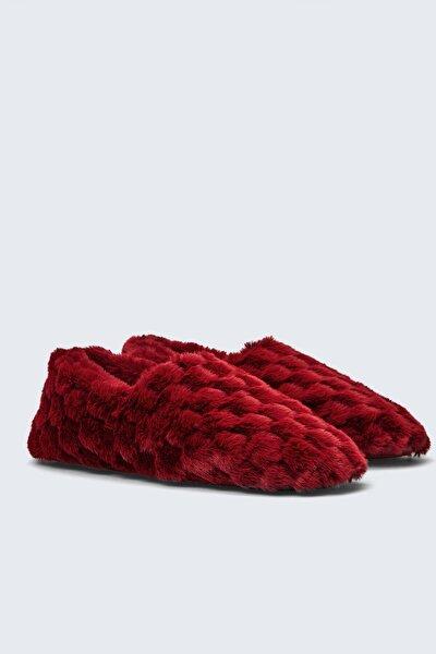 Kadın Kırmızı Kapalı Ev Ayakkabısı