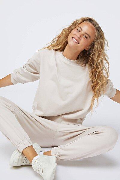 Kadın Bej Modal Pamuklu Pantolon