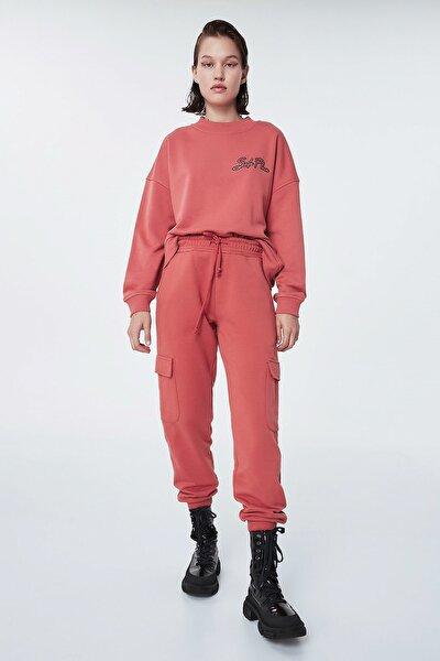 Kadın Kahverengi Jogger Pantolon TW6200028001