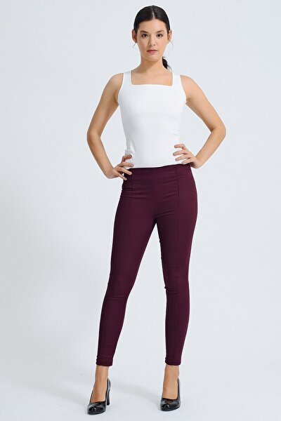 Kadın Bordo Pantolon 40004
